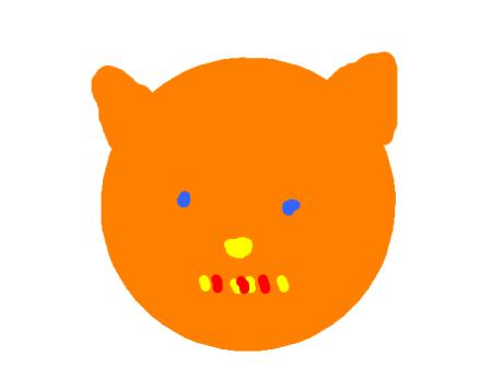 Tigre dessiné avec Tuxpaint