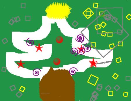 Sapin dessiné avec Tuxpaint