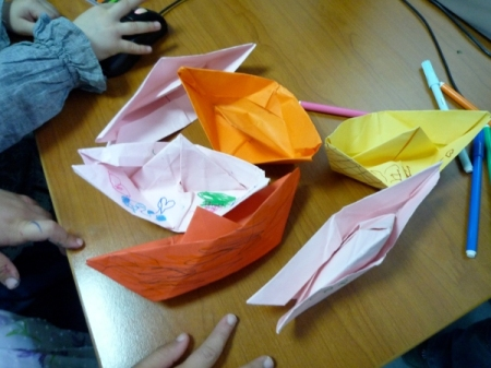 Bateaux en papier