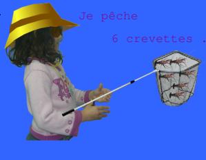 Photomontage de la pêche avec tuxpaint