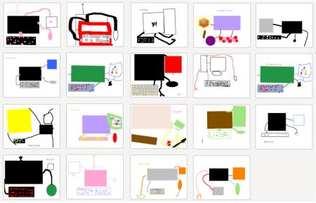 L'ordinateur, dessiné avec Tuxpaint
