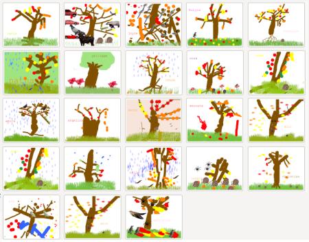 5 sens epn13 maternelles - Arbres dessins ...