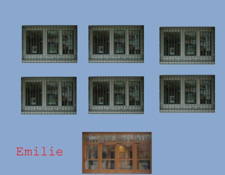 façade d'immeuble avec les tampons personnalisés